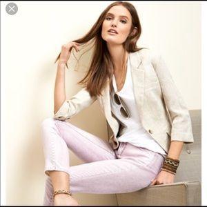 Olivia Moon from Nordstrom oatmeal linen blazer